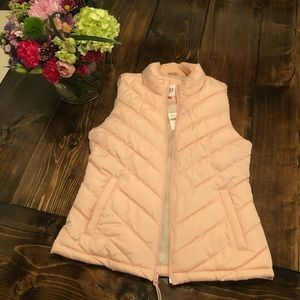 NWT Gap Blush Pink Puffy Vest